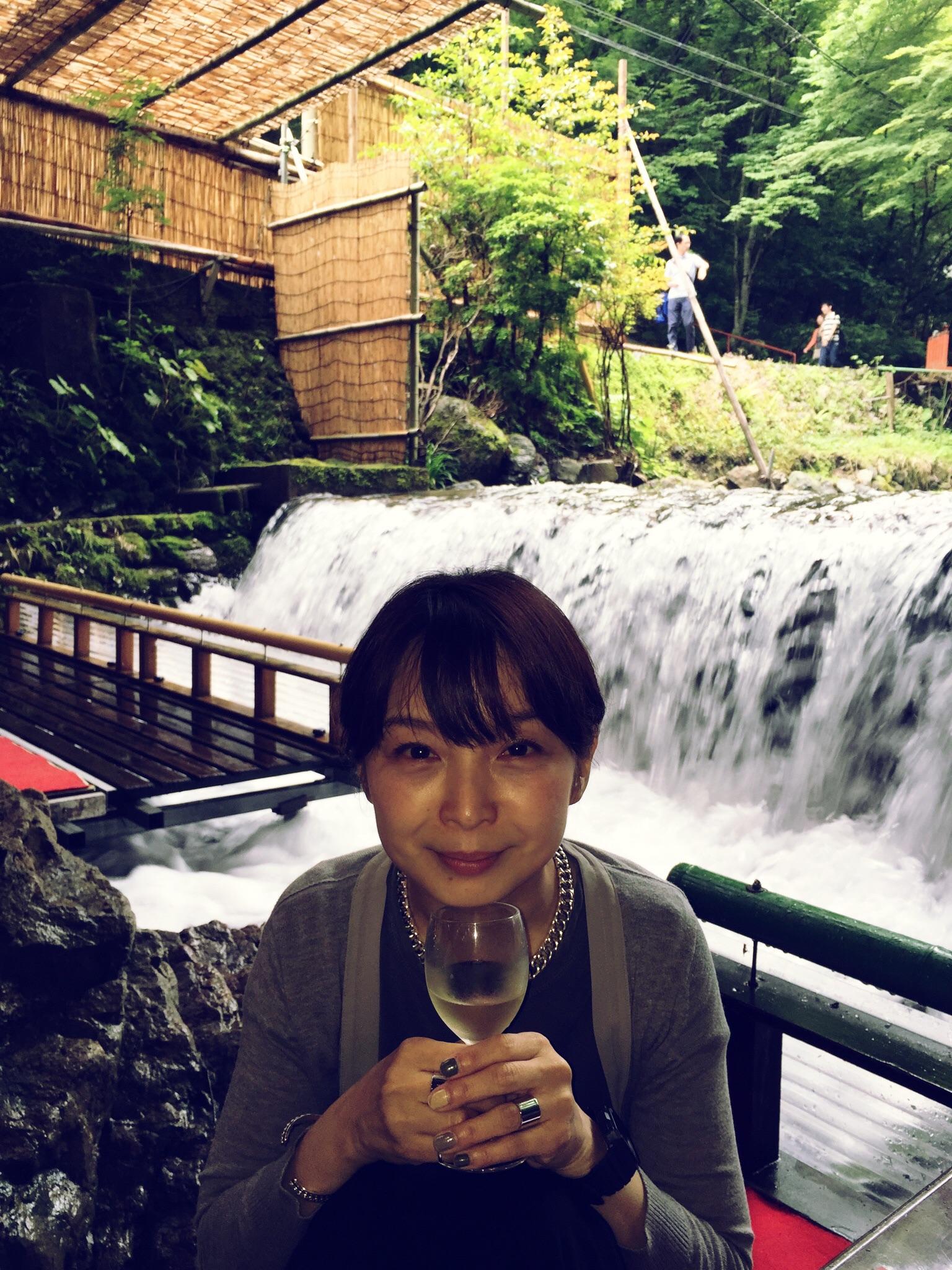 京都・貴船の滝つぼ……ではなく川床でお食事♪_4