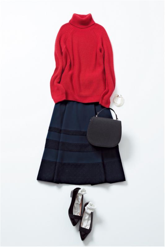 【2月に買って4月までずっと着る!】篠田麻里子のスカート着まわし×3_2