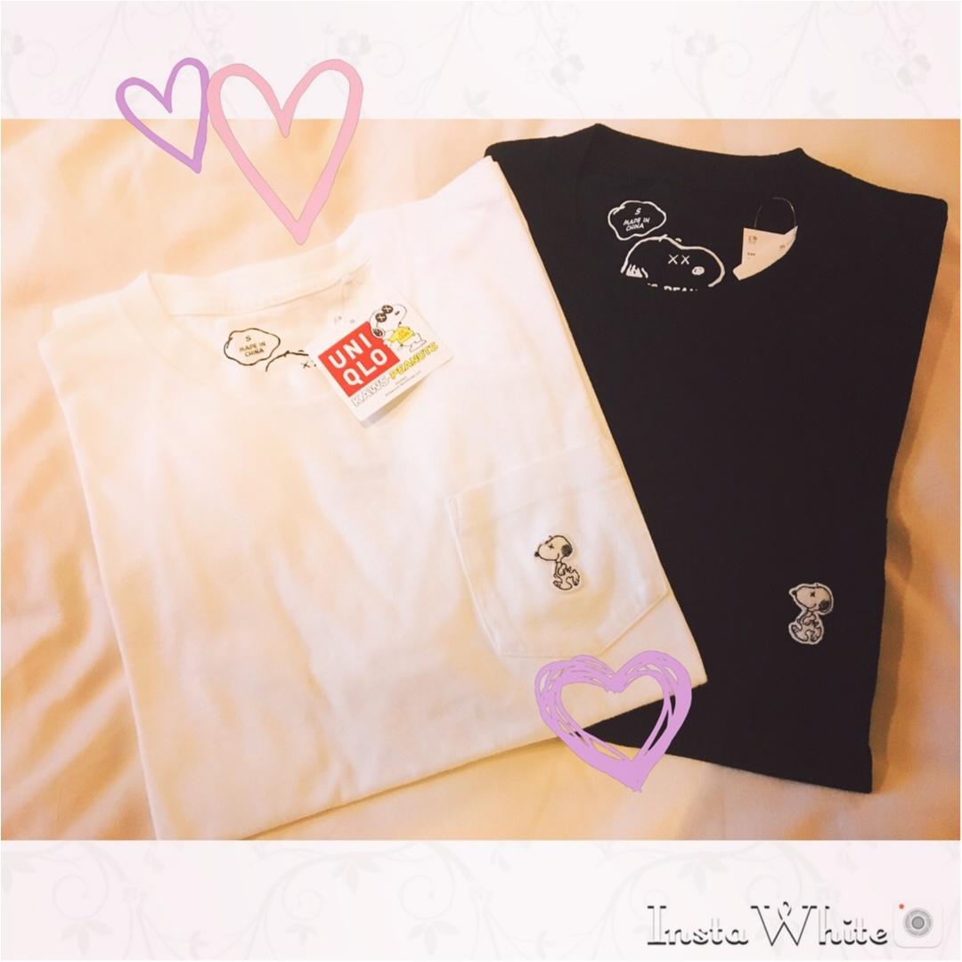 【UNIQLO】着まわし抜群のユニクロのメンズTシャツ♡《スヌーピー》のワンポイントがかわいい❤︎_1