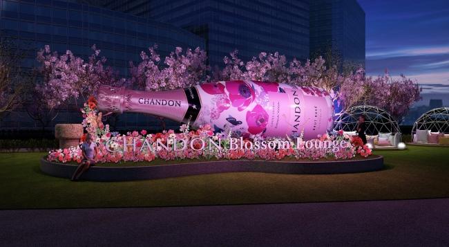 巨大なボトルはなんと万華鏡♡ 『東京ミッドタウン』の可愛すぎる桜イベント「CHANDON Blossom Lounge」【#桜 2019 9】_2