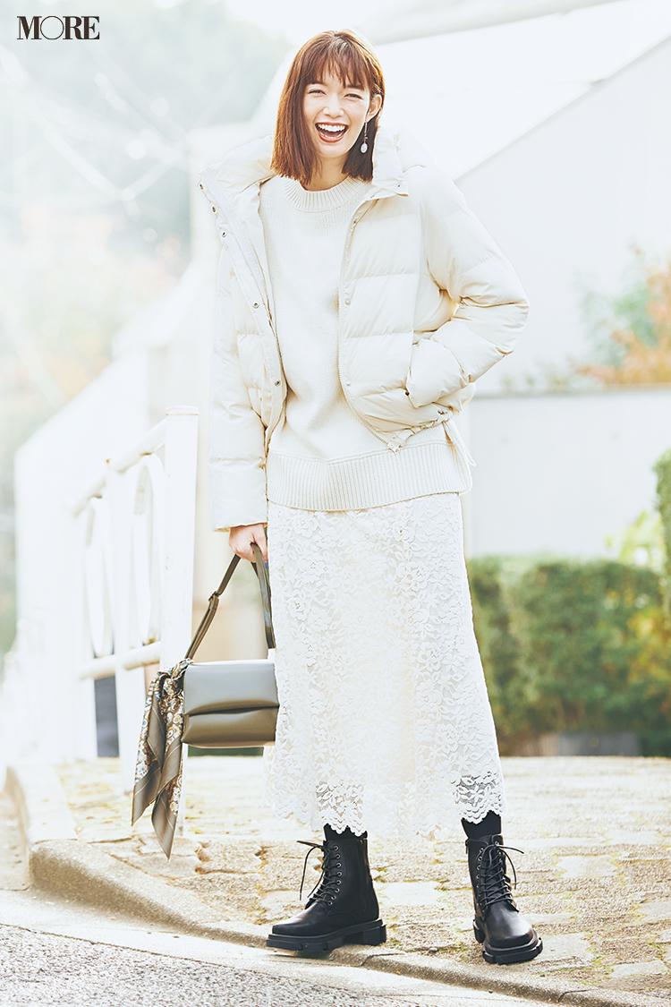 ジーユーGUの白いコートを使った全身30000円以下のワントーンコーデ