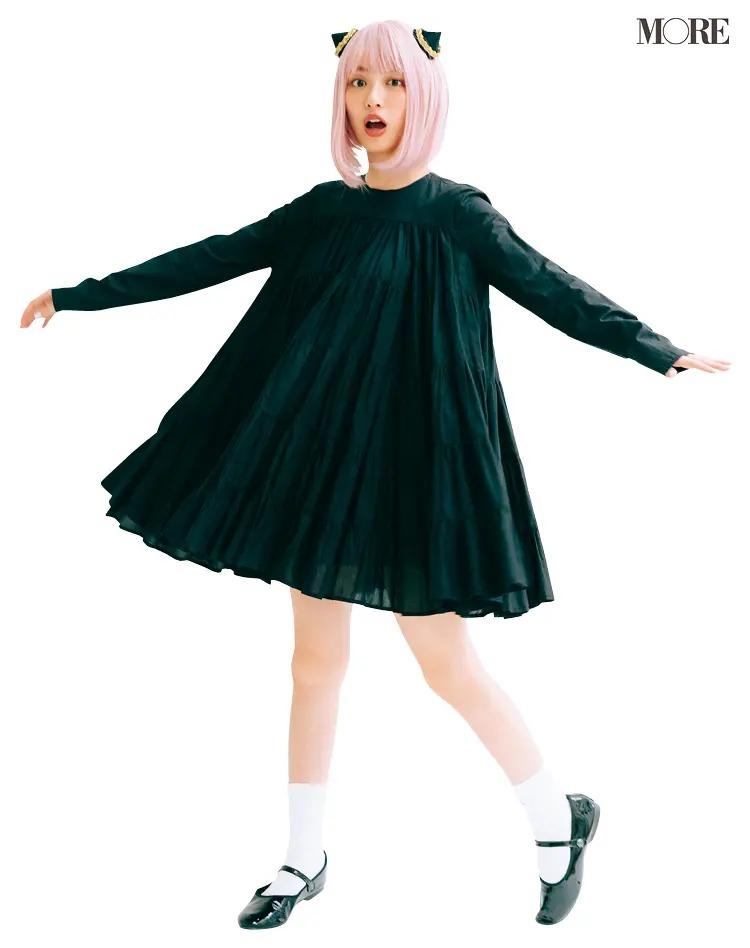 『SPY×FAMILY』のアーニャ風衣装を着た、内田理央