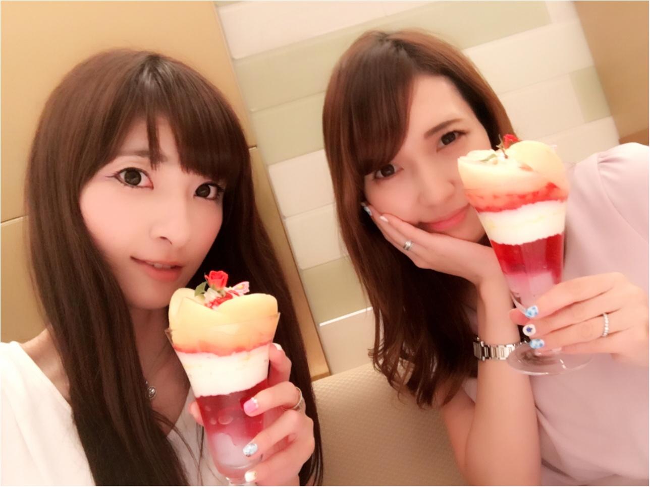 ♡桃をまるごと使った豪華パフェ【渋谷・西村フルーツパーラー】2300円♡モアハピ◡̈のぞみ♡_6