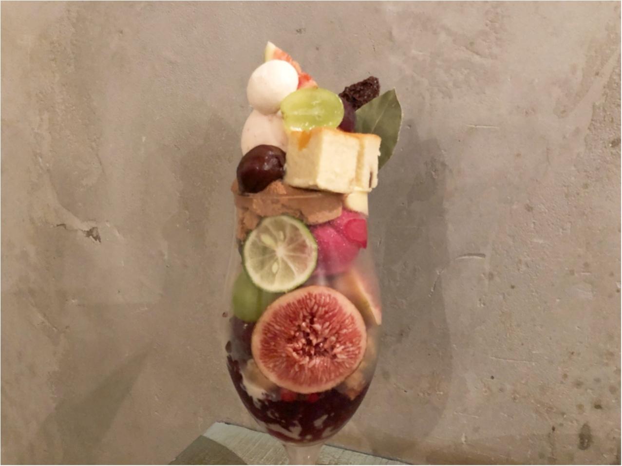 まさに芸術的♡ 秋のスイーツと果物をたっぷり使った 『 ヘーゼルナッツパフェ 』♡♡_3