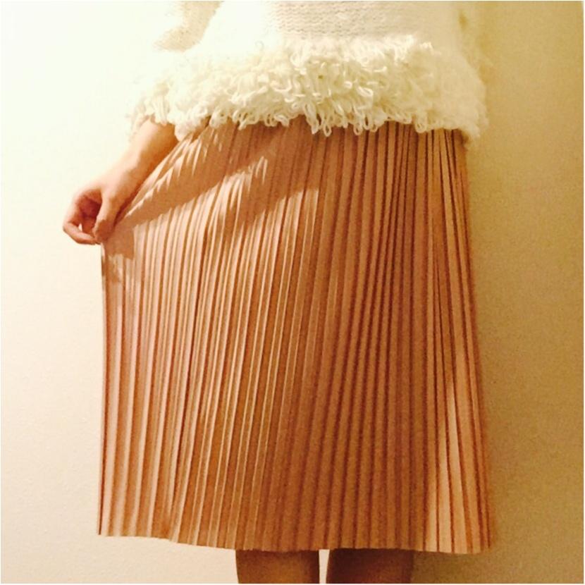 ピンクを味方に春を迎えよう!♡GUのプリーツスカートは今季も優秀◎!_1