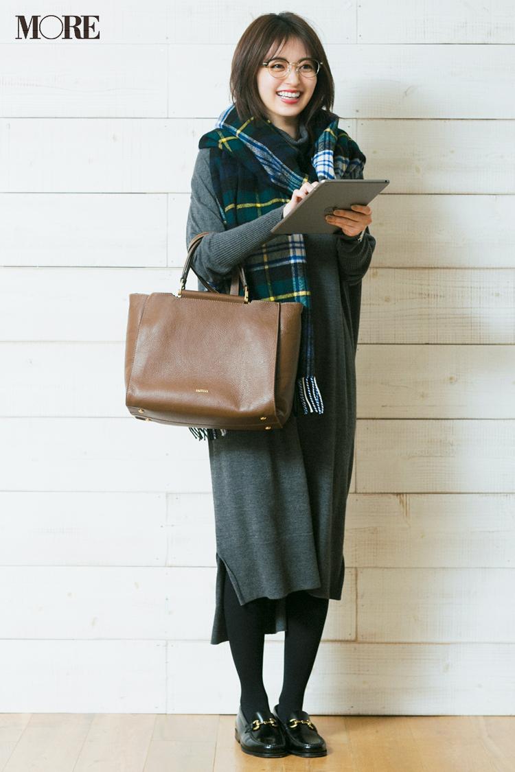 トラッド風に遊び心を取り入れた大人可愛い【冬のチェック柄】コーディネート | ファッション_1_50