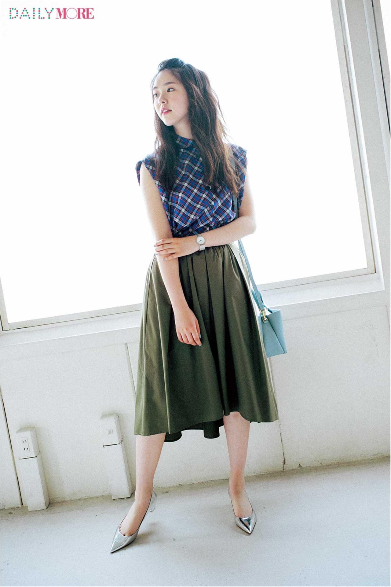 【今日のコーデ/唐田えりか】トレンドのイレギュラーヘムスカートで女っぽい裾揺れを楽しんで♪_1