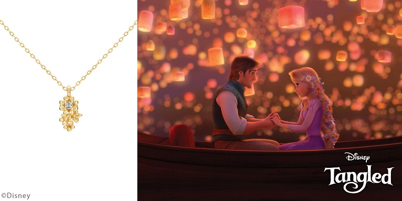 ディズニー、ラプンツェルをイメージしたネックレス