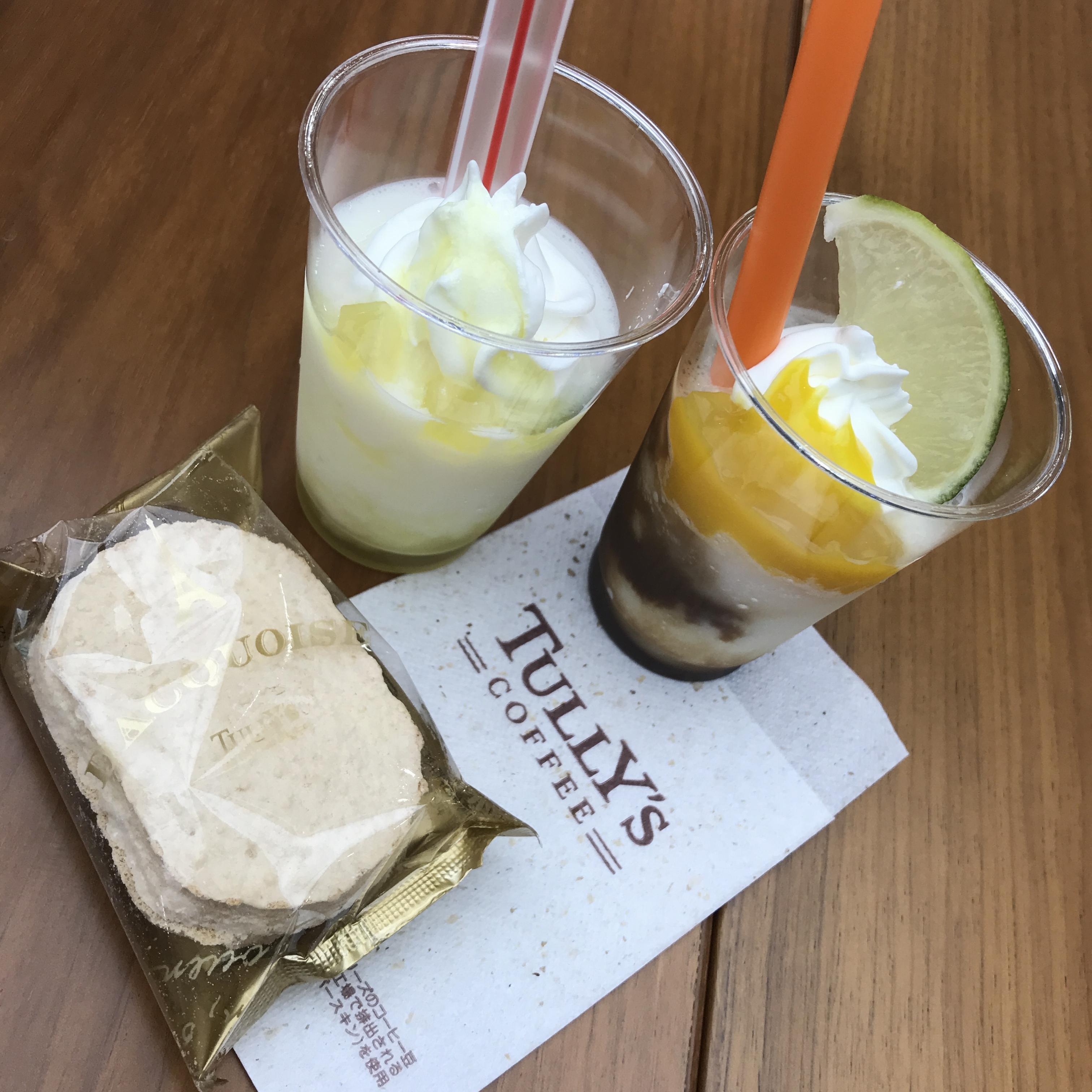 【本日発売! TULLY'S COFFEE 新作 を徹底解説!】トロピカルドリームスワークル と瀬戸内 ナタデココ瀬戸内レモンスワークル を飲みてみた【モアハピ部インフルエンサーセミナー2019】_4