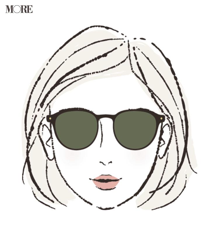 そろそろ夏の日差しを考えて【顔型×サングラス】お見立て帳♡ あなたに似合うサングラスはこれです! photoGallery_1_5