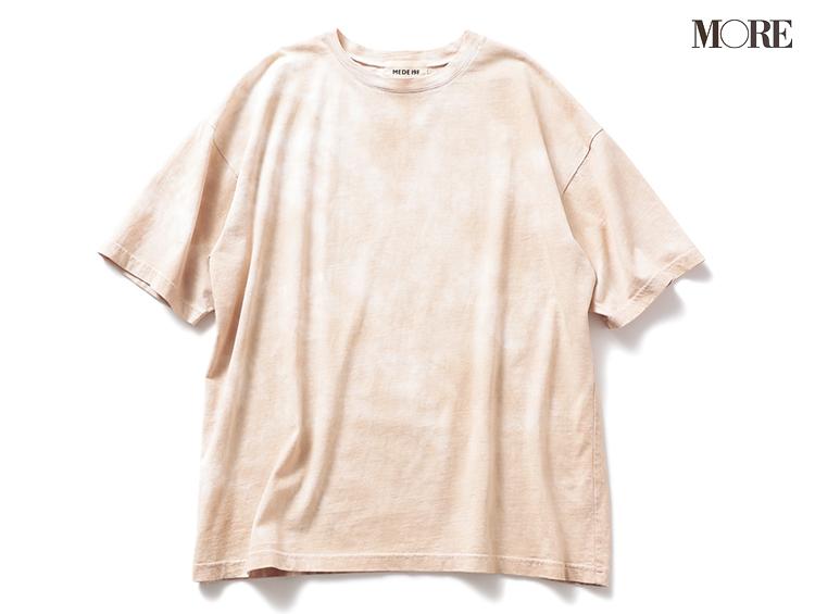 着回しやすいフェリシモのマーブル柄Tシャツ