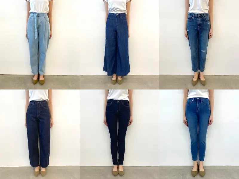 履き比べた6種類のジーンズ