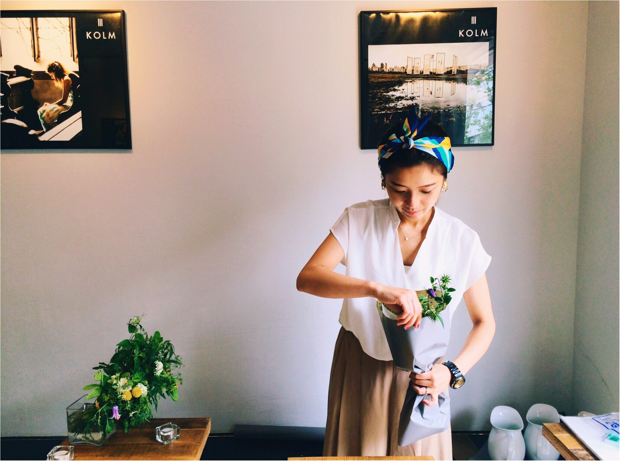 【*お花と珈琲時間な休日*】~食卓花のワークショップ~_4