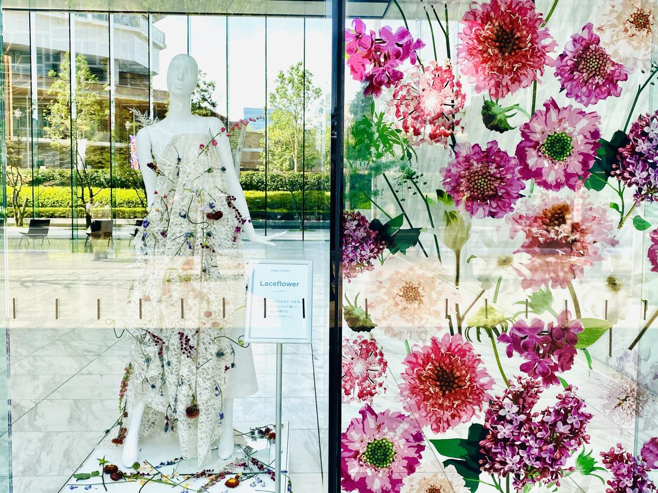【ロスフラワーアート展】花のドレスが圧巻!春の花束フラワーショップもOPEN♡_3