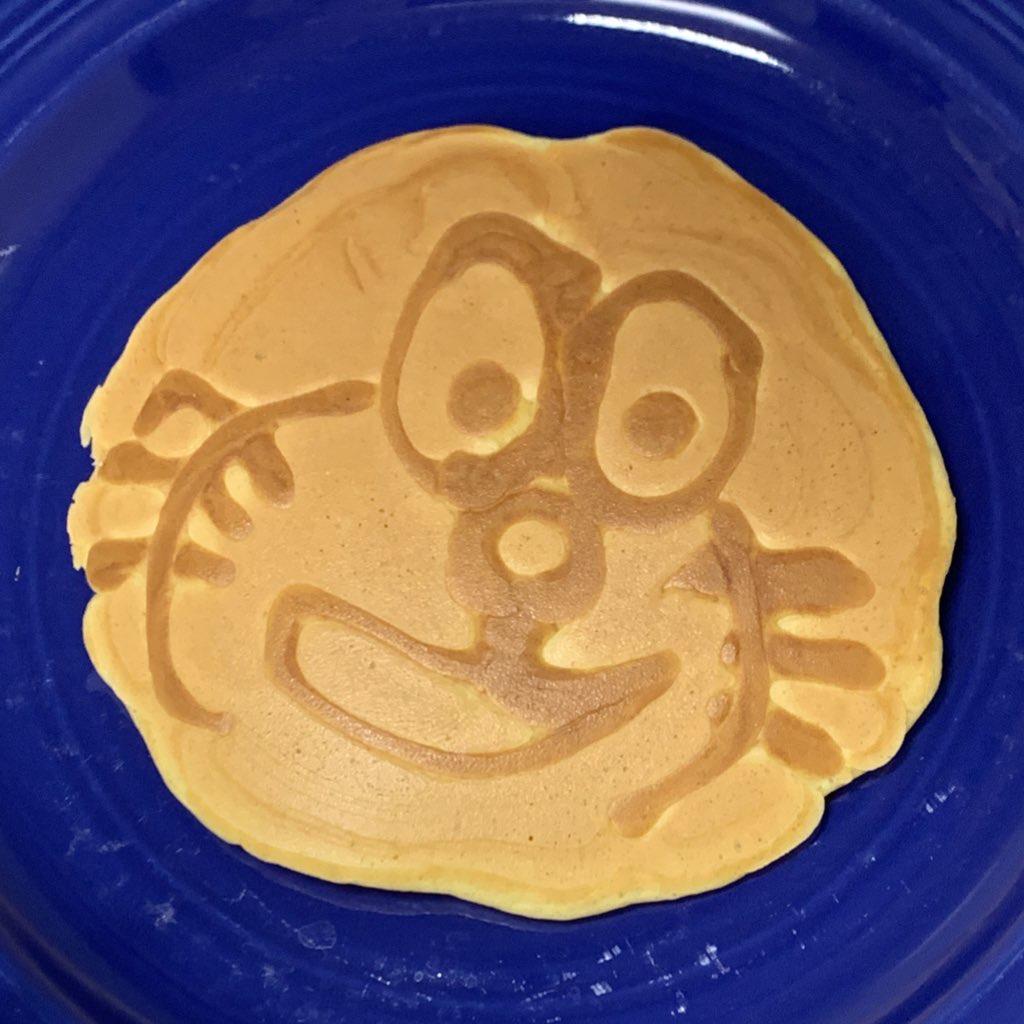 《おうち時間》お絵かきパンケーキが楽しい✴︎_1