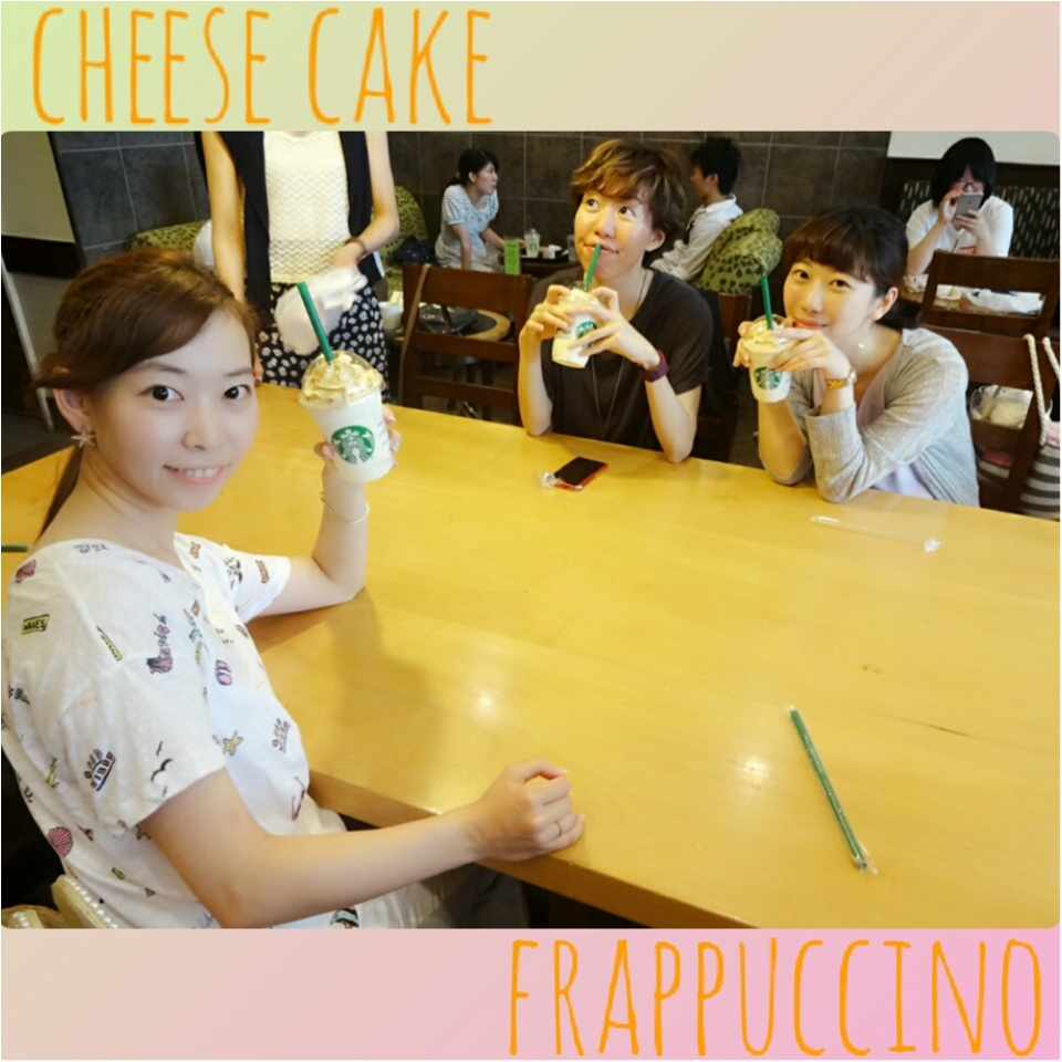 想像以上の美味しさ(´˘`*)チーズケーキフラペチーノ♡_1