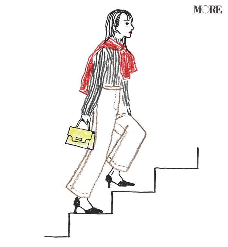 階段を上がるなど、腸活のための運動