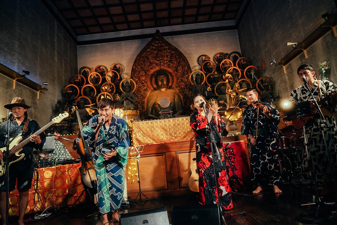 京都即成院でのライブ