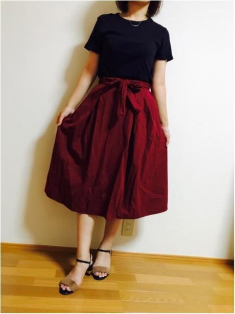 【GU】にて秋アイテム購入★《ウエストリボンフレアスカート》_1