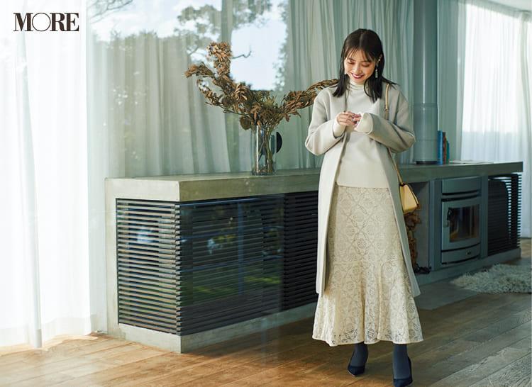 白ニットコーデ【2020冬〜春】- 着膨れしない細見えテクニックなど、白い服の最旬レディースコーディネートまとめ_20