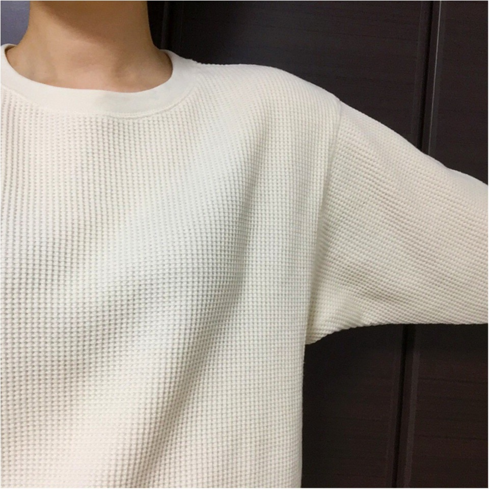 【UNIQLO】季節の変わり目にピッタリ♡大人気ワッフルクルーネックT_2