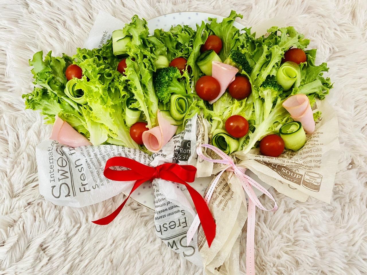 【おうちごはん】実は超簡単!?食べられる花束《ブーケサラダ》が華やかで可愛い♡_3