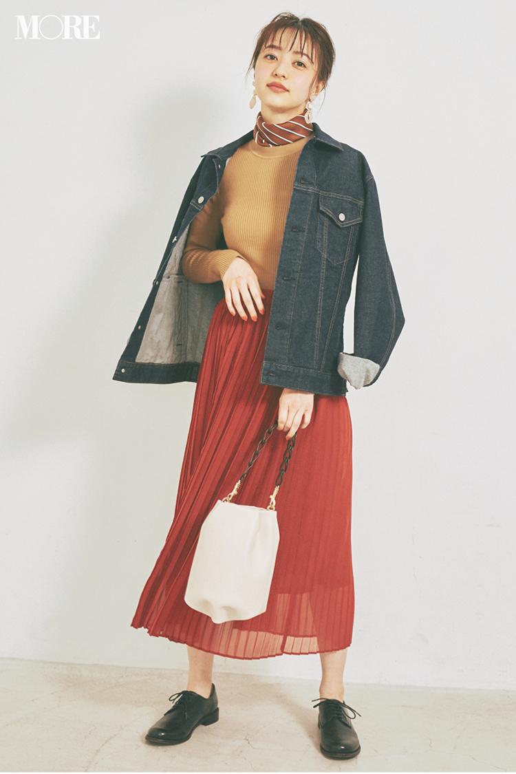 """【今日のコーデ】3月の始まりは大好きなスカートで! 繊細なアコーディオンプリーツで""""きれい""""を手軽に〈逢沢りな〉_1"""