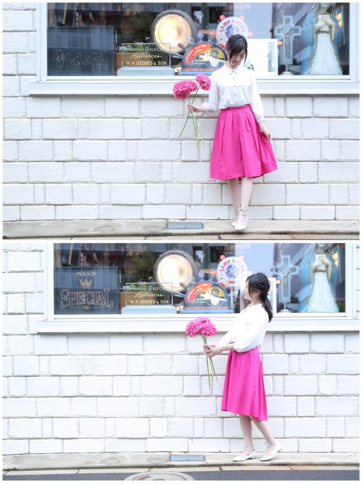 【今日のコーデ】晴れた日のお散歩コーデは色鮮やかなスカート≪NATURAL BEAUTY BASIC≫を♡_3