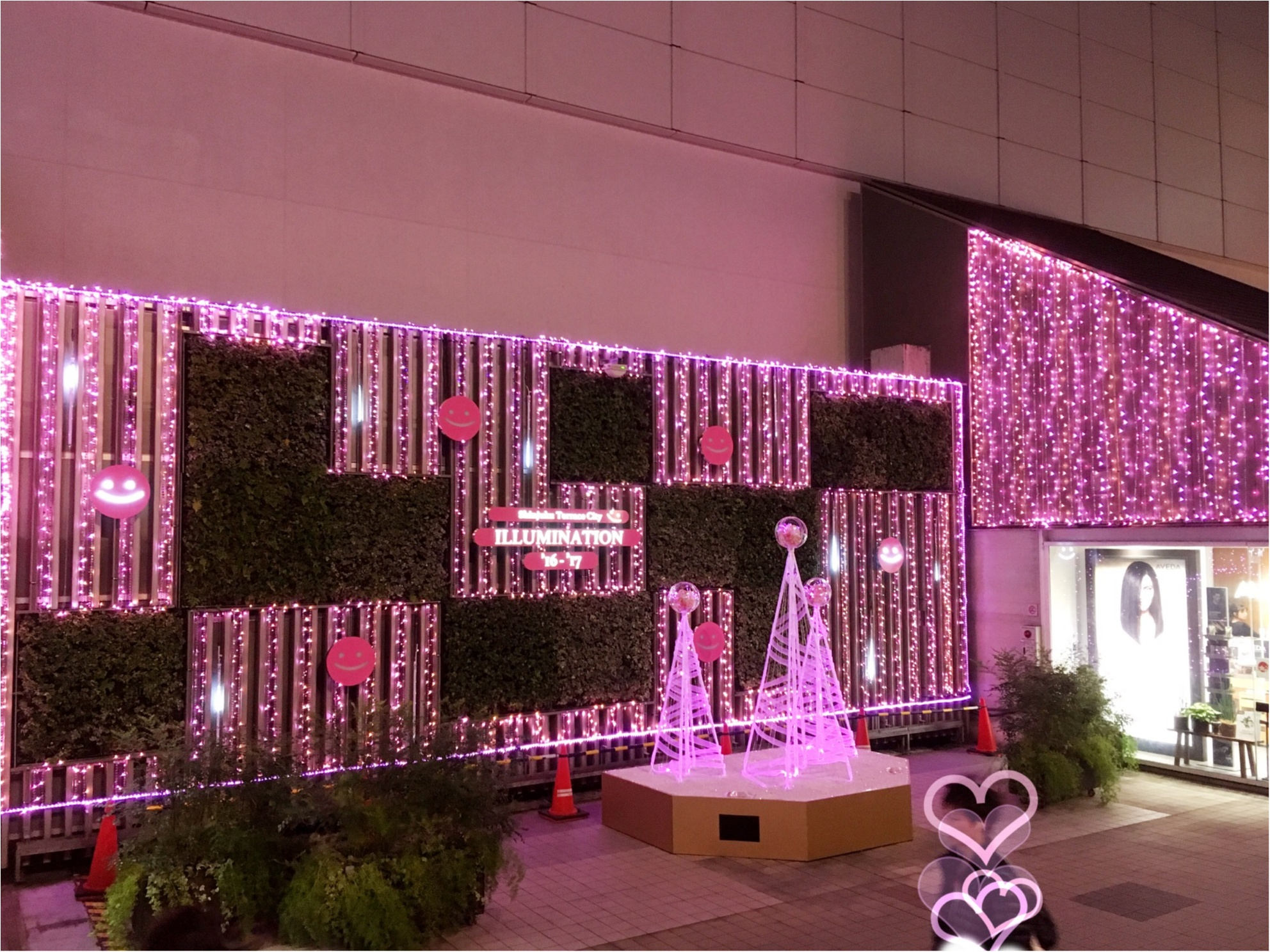 新宿の冬をベビーピンク色に染め上げる♡『新宿テラスシティ』のイルミネーションが女子力高め!体験型の『スマイルタワー』って?♡_2