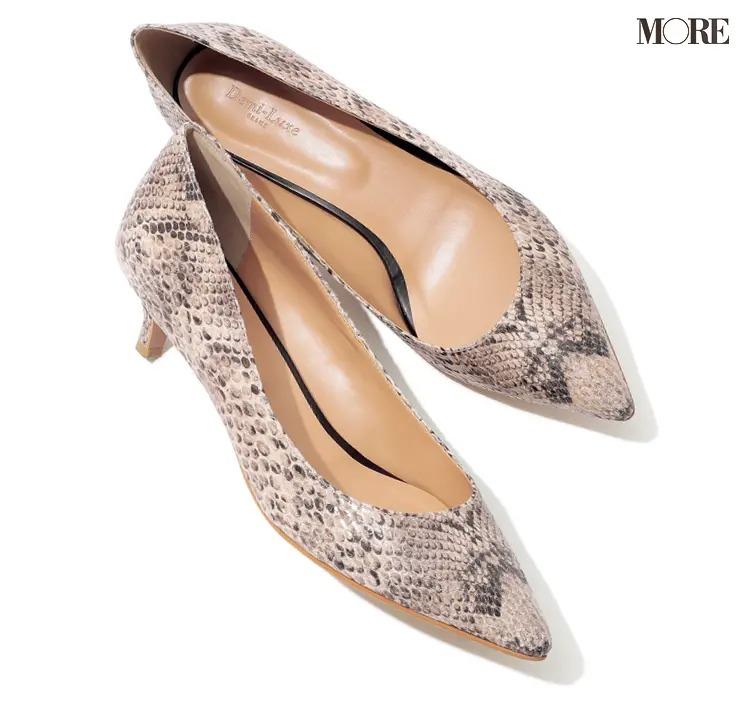 【人気ブランドのおすすめ靴】『デミルクス ビームス』キトゥンヒールパンプス
