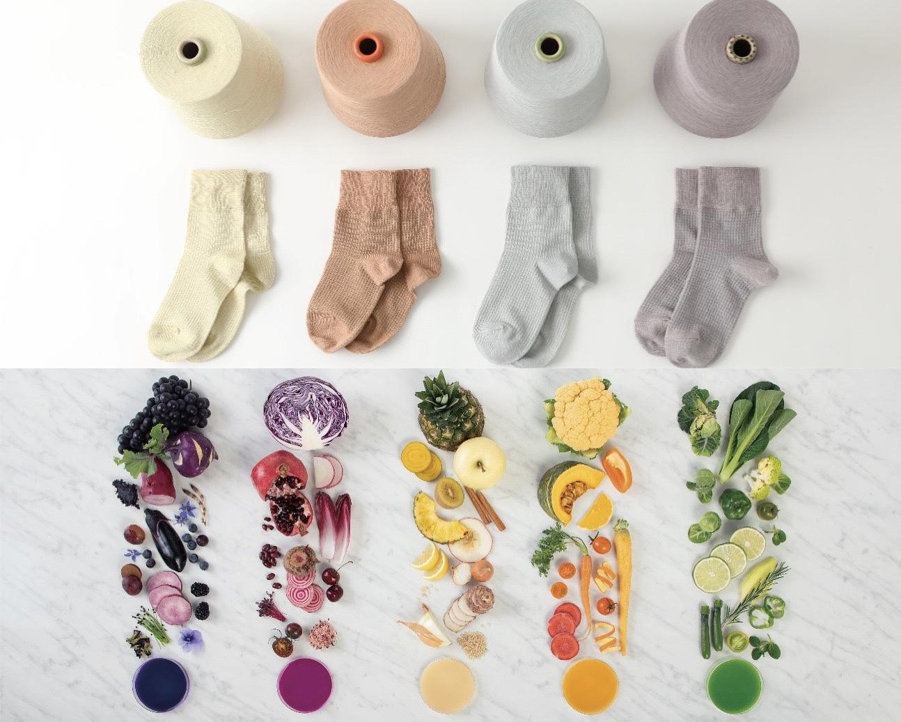FOOD TEXTILEの糸を使用した『タビオ』の靴下