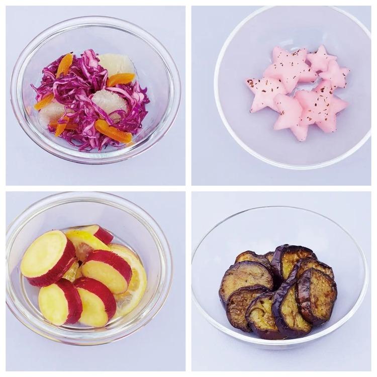 【作り置きお弁当レシピ】紫のおかず4品