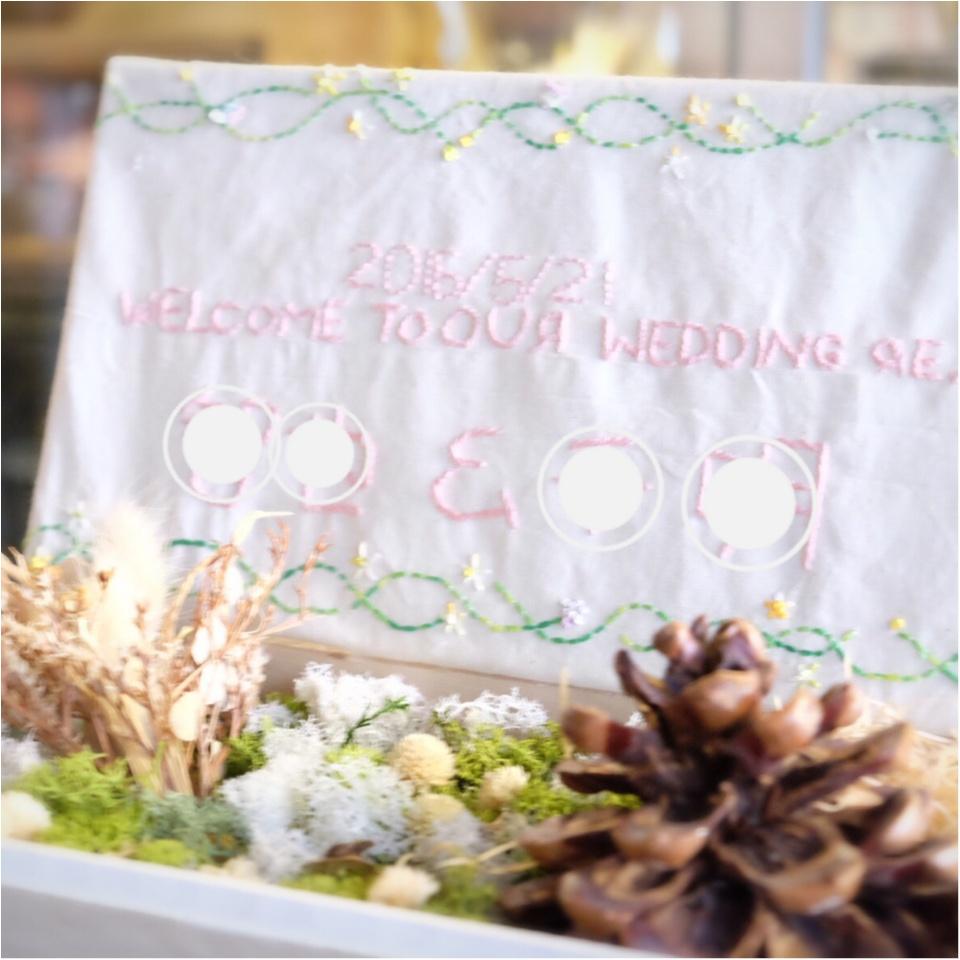 プレ花嫁さんのDIY特集 - ウェルカムボードやリングピローなど結婚式の簡単手作りアイデア集_28