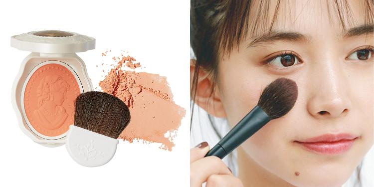 チークの入れ方【2020最新】- 顔型別の塗り方、リップと合わせる春の旬顔メイク方法まとめ_1