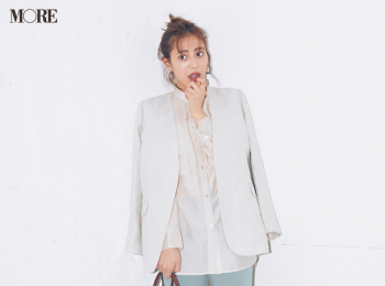 【今日のコーデ】<土屋巴瑞季>きれい色パンツがはきたくなったらほかをなじみ色で統一するのがお約束!