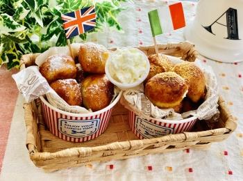 【おうちカフェ】超簡単なのに絶品★ホットケーキミックスでつくる人気レシピを実践♡-ひとくちドーナツ-