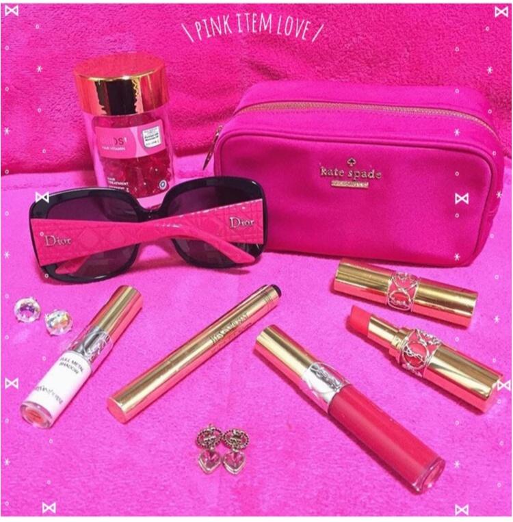 【Beauty】毎日の小物はピンクで統一気分Up♡だいすきkate spade のparty情報も♡_1