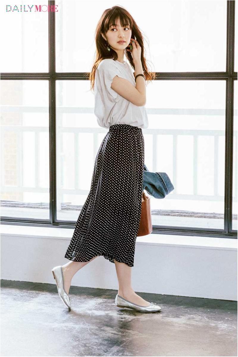 【どこにでも行ける、誰からも褒められる】新生活に『フラワーデイズ』のドット柄スカートがあるといい理由。_1