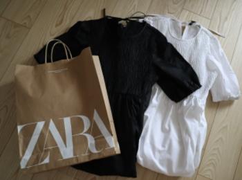 《イロチ買い決定❤️》即完売!した【ZARA】ポプリンパネルミディワンピースが可愛すぎる☻