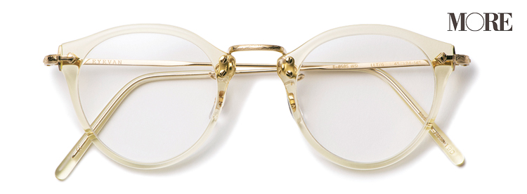 トレンドのクリアフレームのメガネ