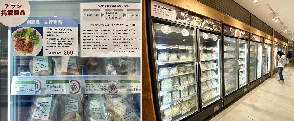 無印良品 港南台バーズの冷凍食品コーナー