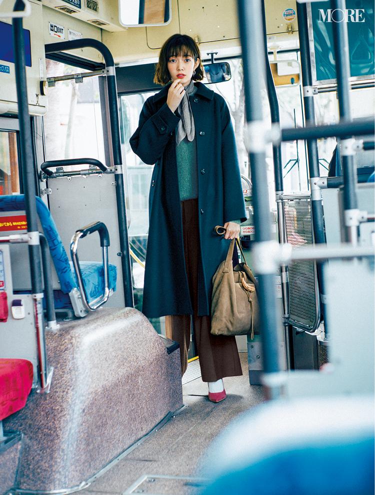 「ひと目ぼれした日、私はネイビーのコートを着ていた」佐藤栞里主演【冬から春へ。手持ち服9着から始める着回し】1日目_1
