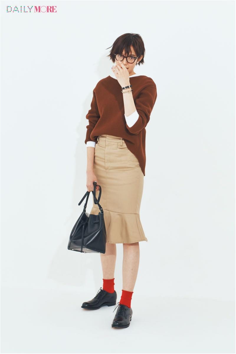 【今日のコーデ】茶系ワントーンならホラ、大人っぽくて今っぽい♡ キュートなスカートを誰より鮮度抜群に!_1
