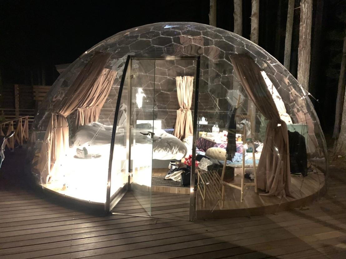 【那須満喫】まぐの女子旅『おしゃグランピング』☆透明なドームで非日常キャンプ☆_7