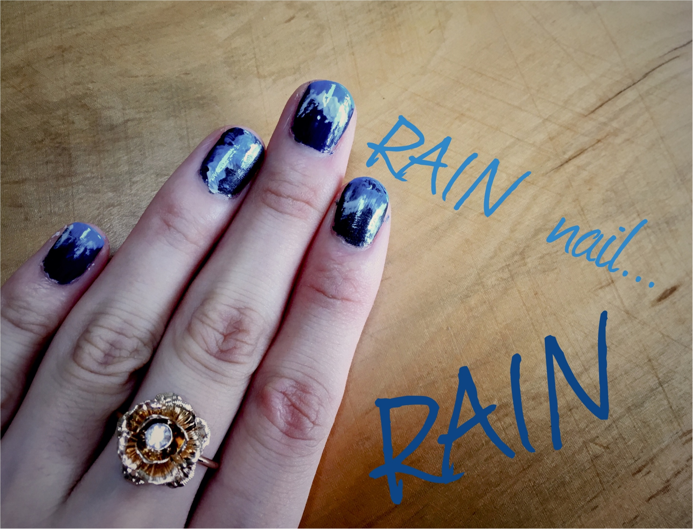 ▶︎▶今週の〈セルフネイル〉でレインネイルと〈ZARAのシャツワンピ〉〈guスニーカー〉で雨の日コーデ【はるな】_2