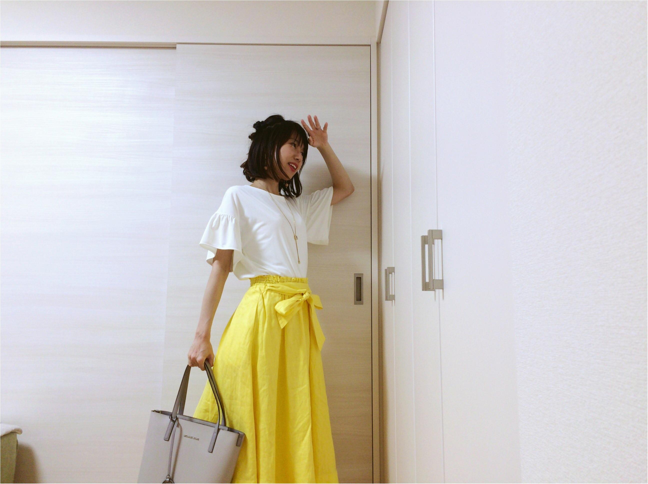 即使える【夏コーデ3選】流行!《イエロースカート》カジュアルからオフィス・休日まで簡単着回し♡_4