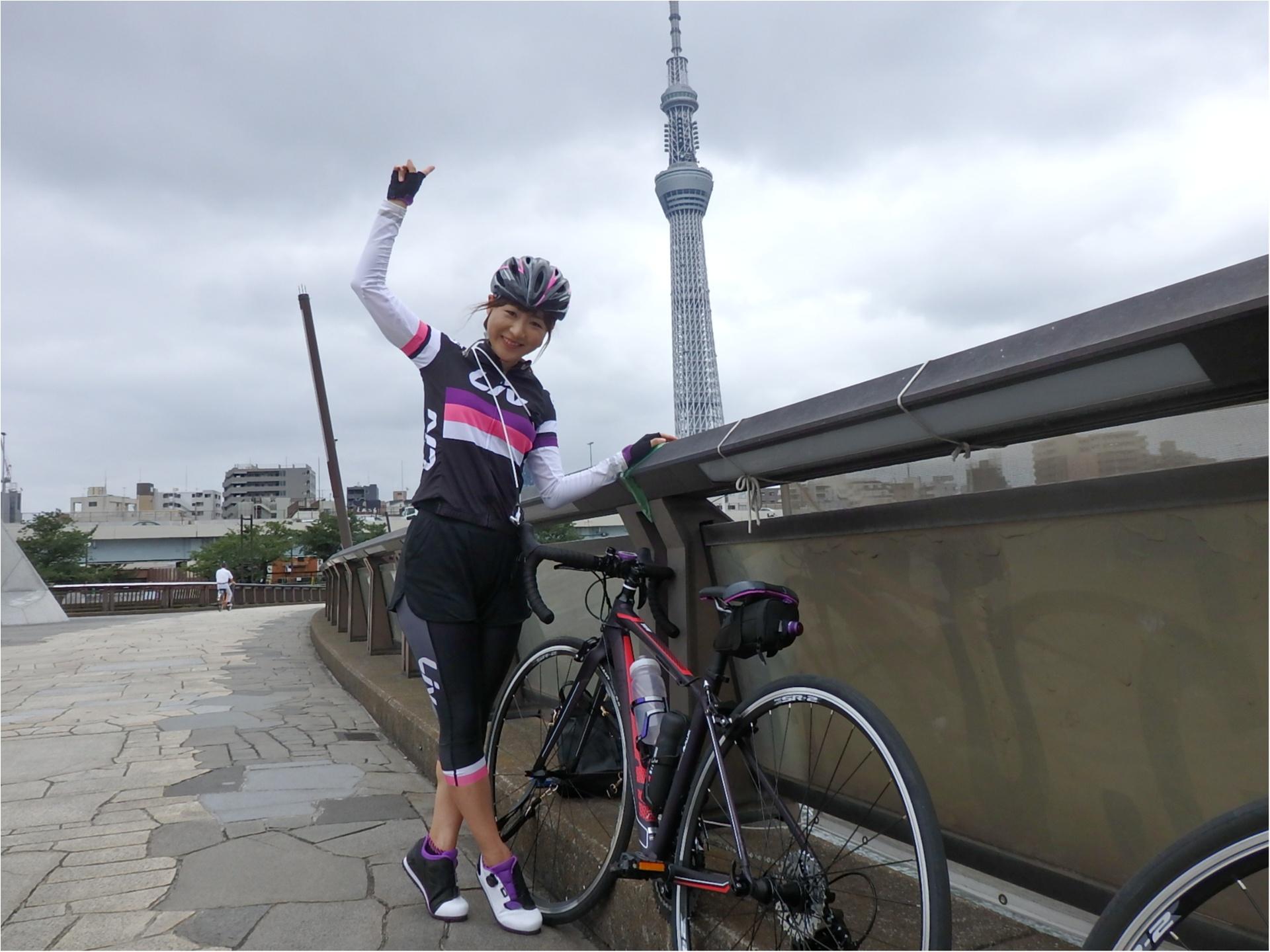 東京が小さく感じられる!ロードバイクならすいすい♪練習のお楽しみは築地で海鮮♥ #ツール・ド・東北【#モアチャレ あかね】_5