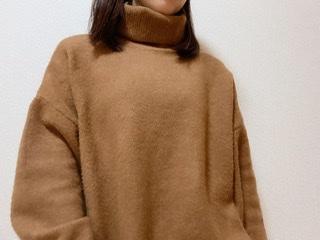 華奢見えの秘密はドロップショルダー《H&M》タートルネックセーター♡_1