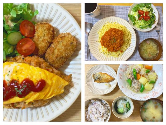 【栄養士の夜ごはん】簡単夜ご飯♡作り置きしてたミートソースと肉じゃがを…?_4