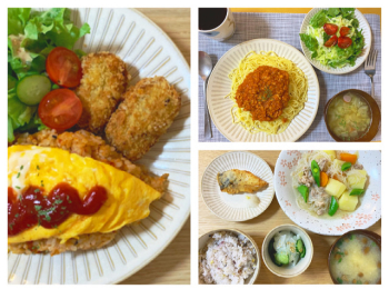 【栄養士の夜ごはん】簡単夜ご飯♡作り置きしてたミートソースと肉じゃがを…?